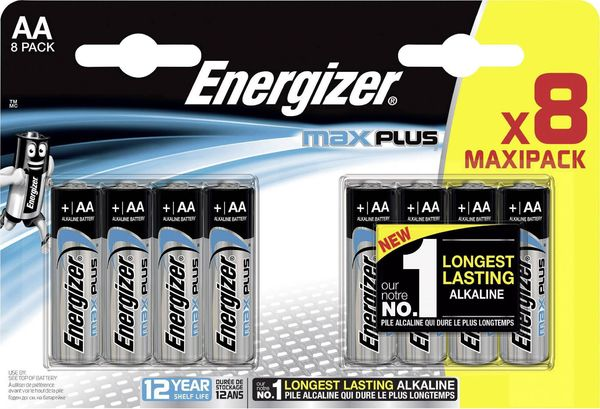 Energizer Max Plus AA/E91 8-pack